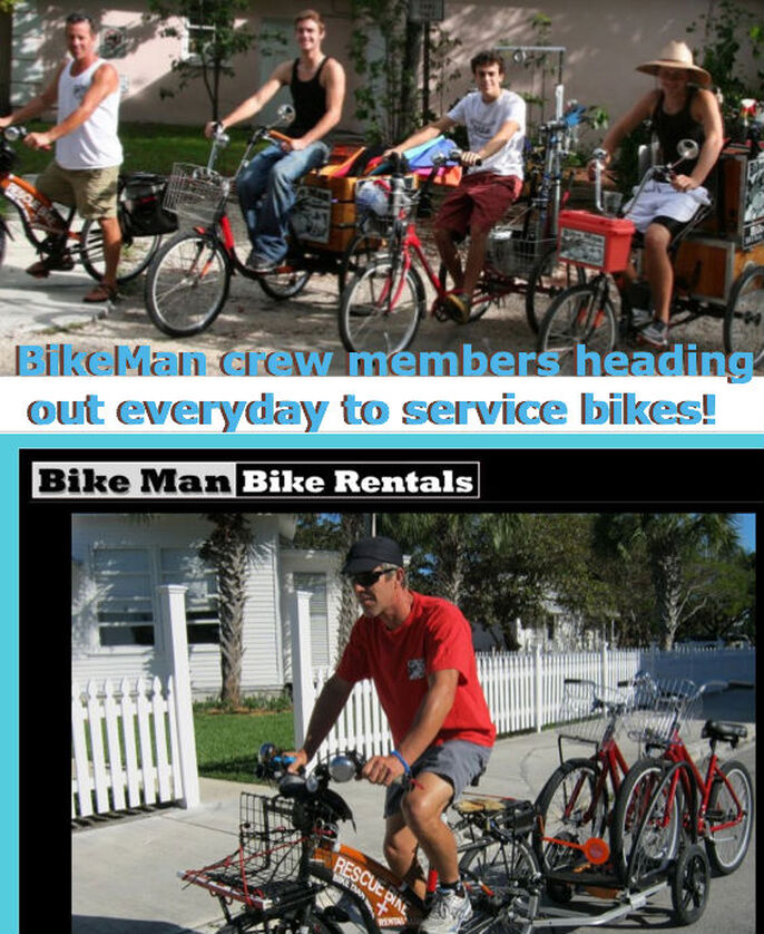 Key West Bike rentals crews at work